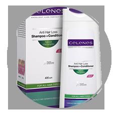 Celenes hajhullás elleni gyógynövény sampon és hajbalzsam