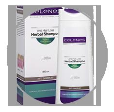 Celenes hajhullás elleni gyógynövényes sampon korpásodás ellen